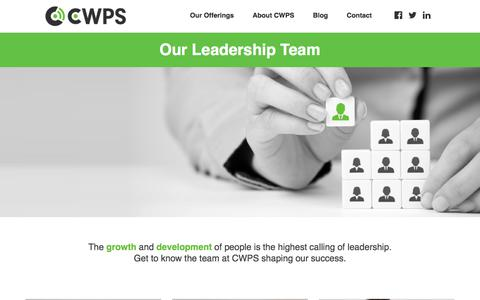 Screenshot of Team Page cwps.com - Our Team - captured July 15, 2018