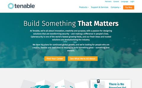 Screenshot of Jobs Page tenable.com - Careers | Tenable Network Security - captured March 10, 2017