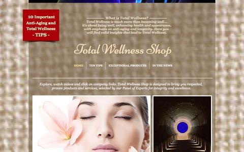 Screenshot of Home Page totalwellnessshop.com - Total Wellness Shop - captured Oct. 7, 2014