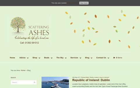 Screenshot of Blog scattering-ashes.co.uk - Blog - Scattering Ashes - captured May 26, 2017