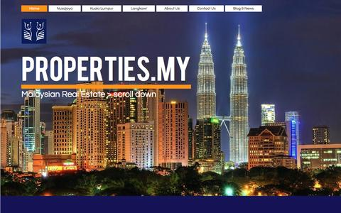 Screenshot of Home Page properties.my - Properties for rent or sale in Malaysia, Iskandar, Nusajaya, Kuala Lumpur - captured Oct. 3, 2014