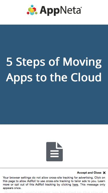 5 Steps of Moving Apps to the Cloud | AppNeta Whitepaper