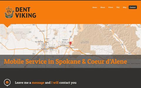 Screenshot of Contact Page dentviking.com - Contact the Dent Viking   Dent Viking - captured Sept. 30, 2014
