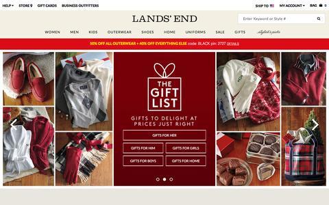 Screenshot of Home Page landsend.com - Lands' End | Coats, Sweaters, Dresses, Gifts & More - captured Nov. 27, 2015