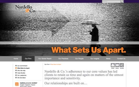 What Sets Us Apart - Nardello & Co.