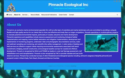 Screenshot of About Page pinnacleecological.com - About Us – Pinnacle Ecological Inc - captured Nov. 6, 2016