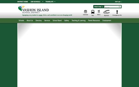 Screenshot of Menu Page vashonsd.org - Lunch Menu / Lunch - captured Oct. 19, 2017