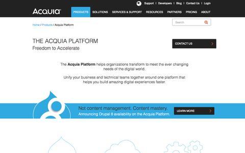 Screenshot of Products Page acquia.com - Acquia Platform | Acquia - captured Nov. 5, 2015