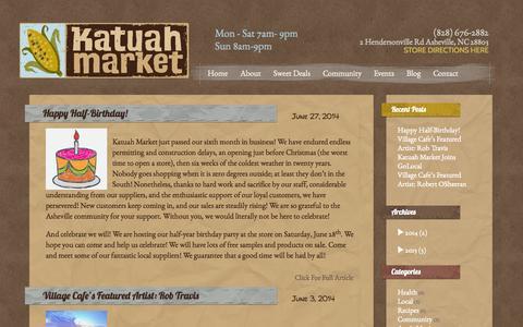 Screenshot of Blog katuahmarket.com - Blog   Katuah Market - captured Sept. 30, 2014