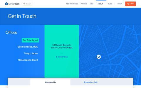 Screenshot of similartech.com - Contact SimilarTech - captured Oct. 25, 2017