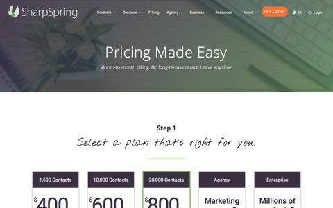 Marketing Automation Pricing - SharpSpring