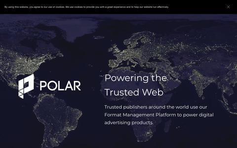Screenshot of Home Page polar.me - Polar - Powering the Trusted Web - captured June 30, 2019