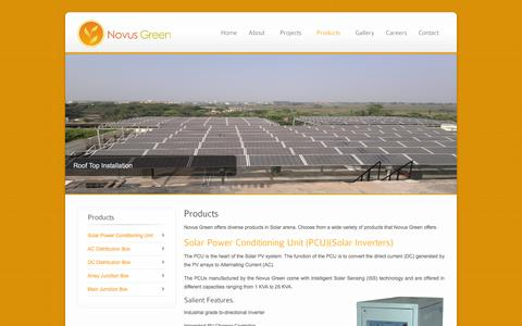 Screenshot of Products Page novusgreen.in - Novus Green Products - captured Feb. 15, 2016