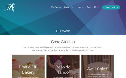 Screenshot of Case Studies Page varrocreative.com - Our Work - Varro Creative - captured Oct. 20, 2018