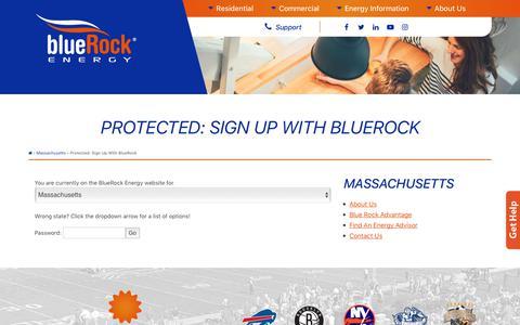 Screenshot of Signup Page bluerockenergy.com - Sign Up With BlueRock - BlueRock Energy - captured June 2, 2017