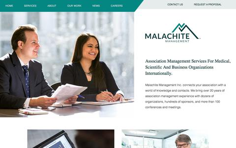 Screenshot of Home Page malachite-mgmt.com - Association Management Company - Malachite Management - captured Oct. 5, 2017
