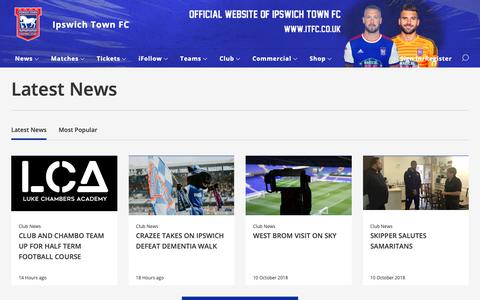 Screenshot of Press Page itfc.co.uk - Latest News - Ipswich Town - captured Oct. 12, 2018