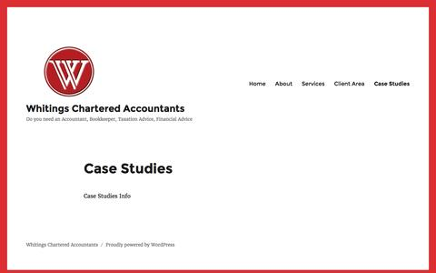 Screenshot of Case Studies Page whitings.com.au - Case Studies – Whitings Chartered Accountants - captured Dec. 20, 2016