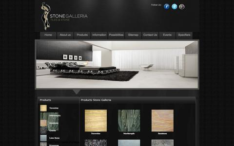 Screenshot of Products Page stonegalleria.com.au - Product: Travertine Tiles | Pavers Brisbane | Marble Tiles - captured Sept. 30, 2014