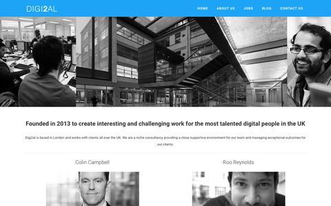 Screenshot of About Page digi2al.co.uk - Digi2al - About Us - captured Oct. 12, 2017