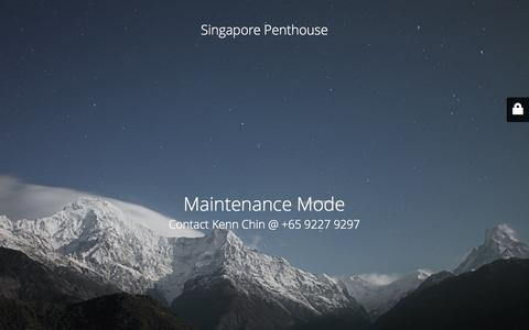 Screenshot of Home Page penthouse.sg - Website is under construction - captured Sept. 16, 2015