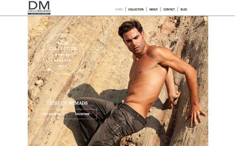 Screenshot of Home Page diegomilano.com - Diego Milano Luxury Denim Collection - captured Sept. 30, 2014