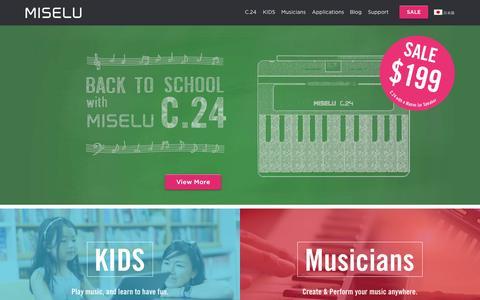 Screenshot of Home Page miselu.com - Home - Miselu - captured Sept. 5, 2015