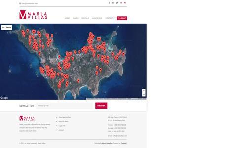 Screenshot of Maps & Directions Page marlavillas.com - Map   Marla Villas - captured Nov. 17, 2016