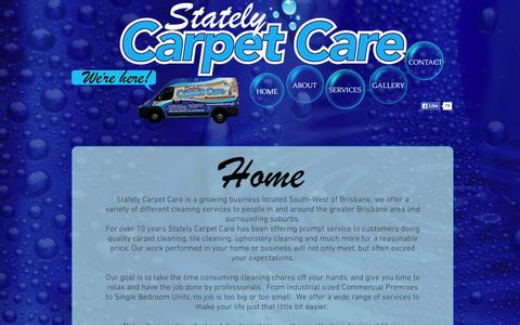 Screenshot of Contact Page stately.com.au - Stately Carpet Care / Carpet Cleaning / Brisbane - captured Aug. 13, 2015