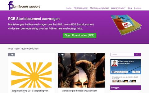 Screenshot of Blog familycaresupport.nl - Blog overzicht - captured Jan. 8, 2016