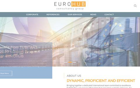 Screenshot of Home Page eurohubconsultancy.eu - European Affairs Consultancy In Brussels | EUROHUB Consultancy Group - captured July 11, 2017
