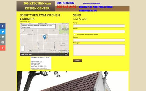 Screenshot of Privacy Page Contact Page 305kitchen.com - 305kitchen.com - Kitchen Cabinets, Solid Wood Rta, Kitchen Cabinets Wholesale - captured May 3, 2017