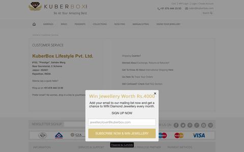 Screenshot of Support Page kuberbox.com - Customer Service -KuberBox.com - captured Jan. 16, 2016