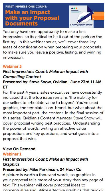 Make an Impact with Your Proposal Documents | Qvidian