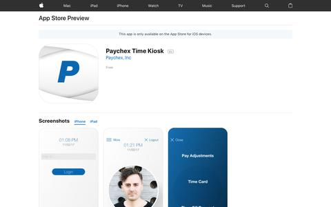 Paychex Time Kiosk on the AppStore