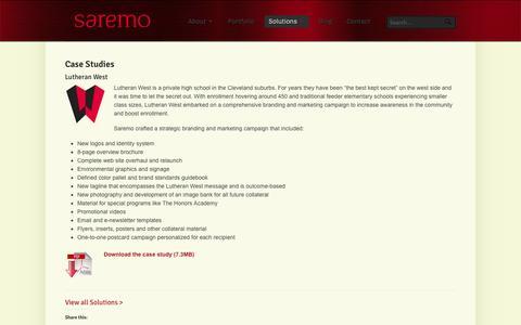 Screenshot of Case Studies Page saremo.com - Saremo - Case Studies - captured Sept. 30, 2014