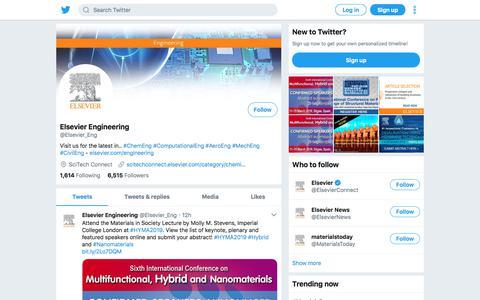 Tweets by Elsevier Engineering (@Elsevier_Eng) – Twitter