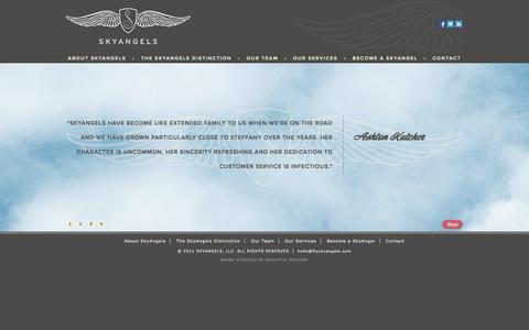 Screenshot of Home Page flyskyangels.com - SkyAngels - captured Oct. 6, 2014