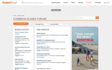 Caribbean Islands Forum | Fodor's Travel Talk Forums