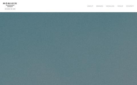 Screenshot of Home Page monikergroup.com - Moniker Group   A Dream Factory - captured Jan. 10, 2016