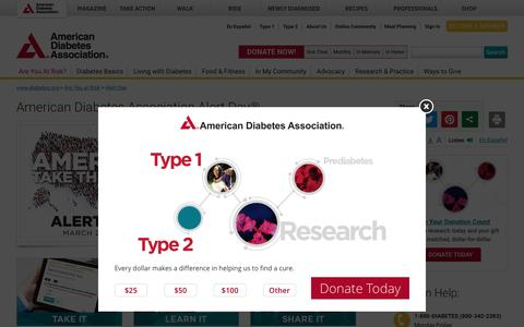 American Diabetes Association Alert Day®: American Diabetes Association®