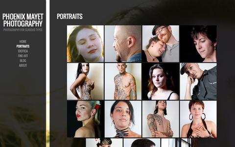 Screenshot of Services Page phoenixmayet.com - Portraits - captured Oct. 2, 2014