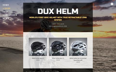 Screenshot of Home Page duxhelm.com - DUX HELM - captured Feb. 8, 2016