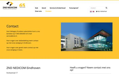 Screenshot of Contact Page zndnedicom.nl - Contact - ZND Nedicom - captured Oct. 19, 2018