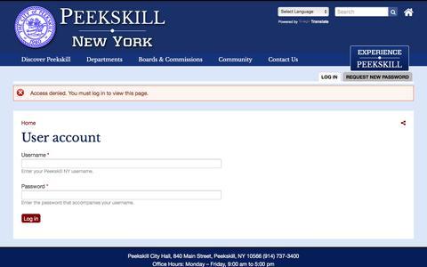 Screenshot of Maps & Directions Page cityofpeekskill.com - User account | Peekskill NY - captured May 17, 2017