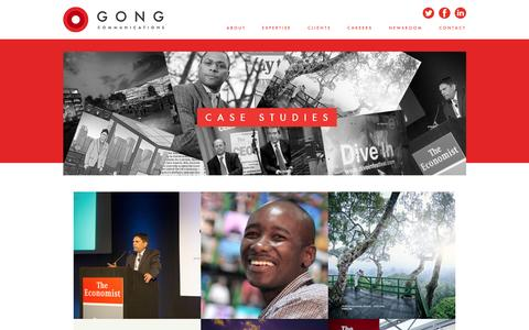 Screenshot of Case Studies Page gongcommunications.com - Case Studies - Gong - captured July 16, 2016