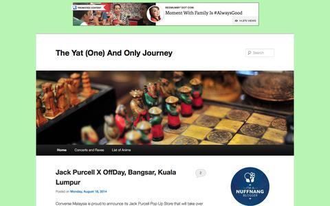 Screenshot of Home Page jenkinyat.com - The Yat (One) And Only Journey  The Yat (One) And Only Journey - captured June 15, 2016