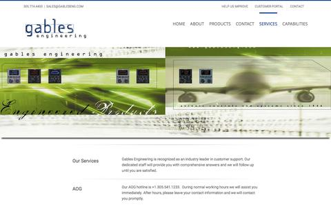 Screenshot of Services Page gableseng.com - Services – Gables Engineering - captured Oct. 20, 2016