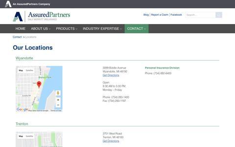 Screenshot of Locations Page dalymerritt.com - Locations | Daly Merritt - captured Oct. 7, 2018