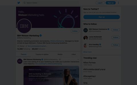 Tweets by IBM Watson Marketing (@IBMforMarketing) – Twitter